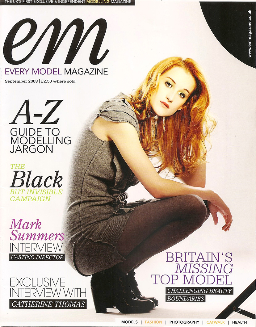 BLACK BUT INVISIBLE EDITORIAL IN EM MAGAZINE SEP 2008