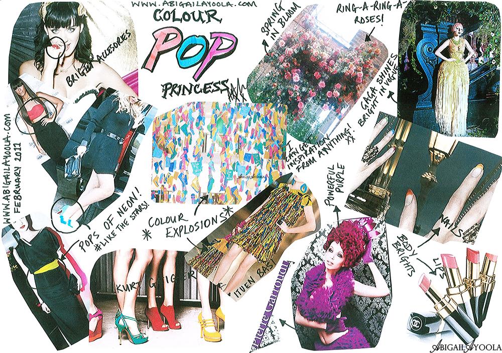 February Mood Board Colour Pop Princess