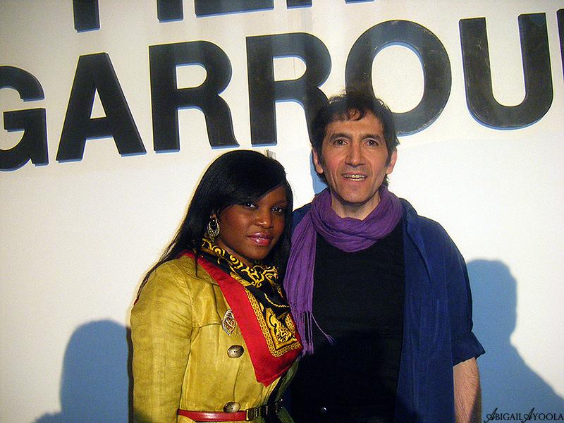 Stylist Abigail Ayoola With Designer Pierre Garroudi at his A/W 2011 Show.