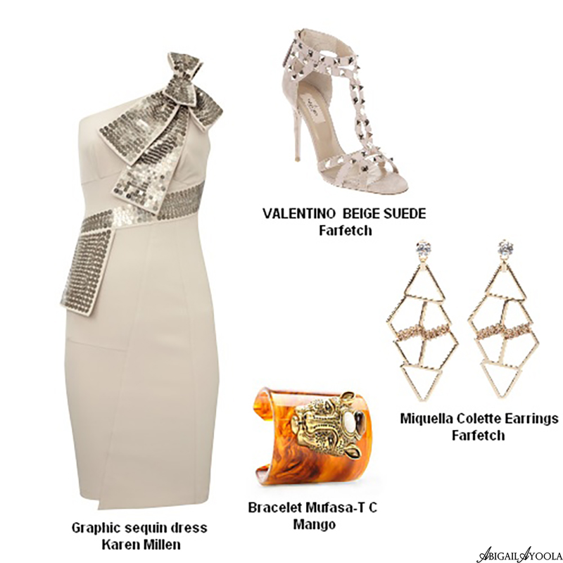 BEIGE BEAUTY ROYAL WEDDING GUEST OUTFIT IDEA