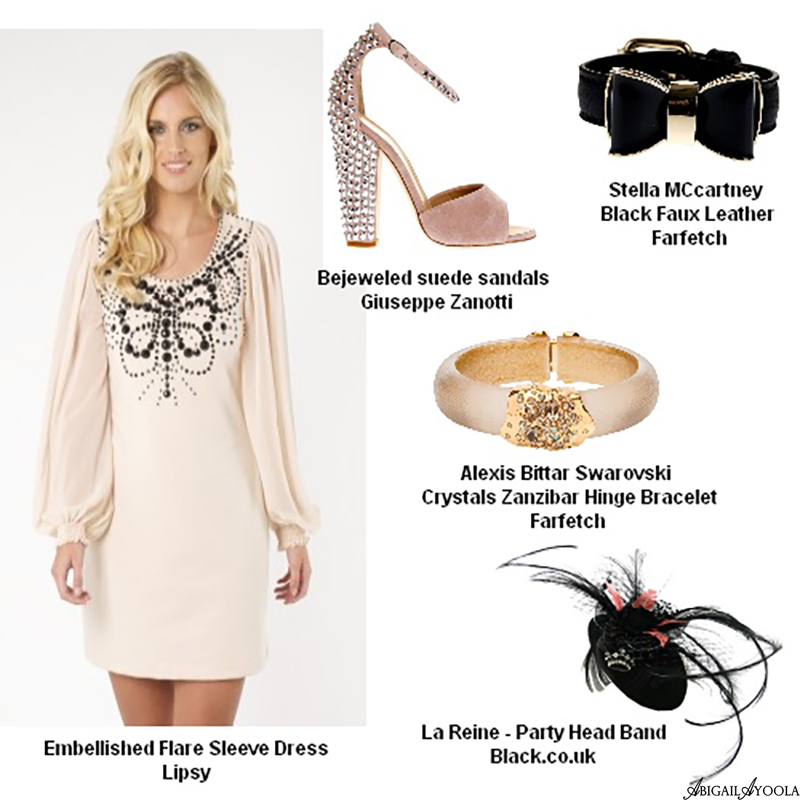 BEJEWELLED NUDES ROYAL WEDDING GUEST OUTFIT