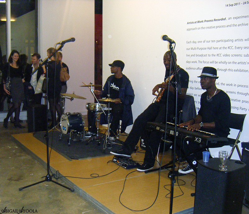 LIVE BAND AT THE ARA JO & THE SUPER EGOS S/S 2012 LFW SHOW