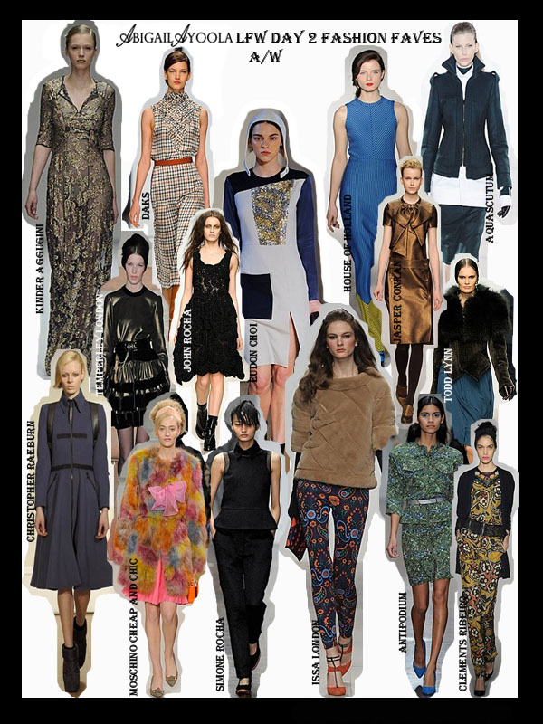 DAY 2 OF LFW A/W 2012 FAVOURITES