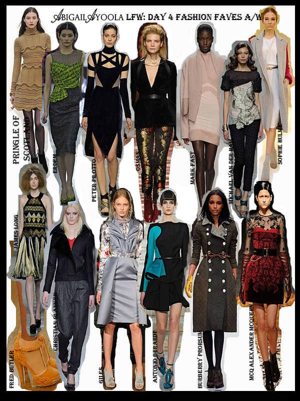 DAY 4 OF LFW A/W 2012 FAVOURITES