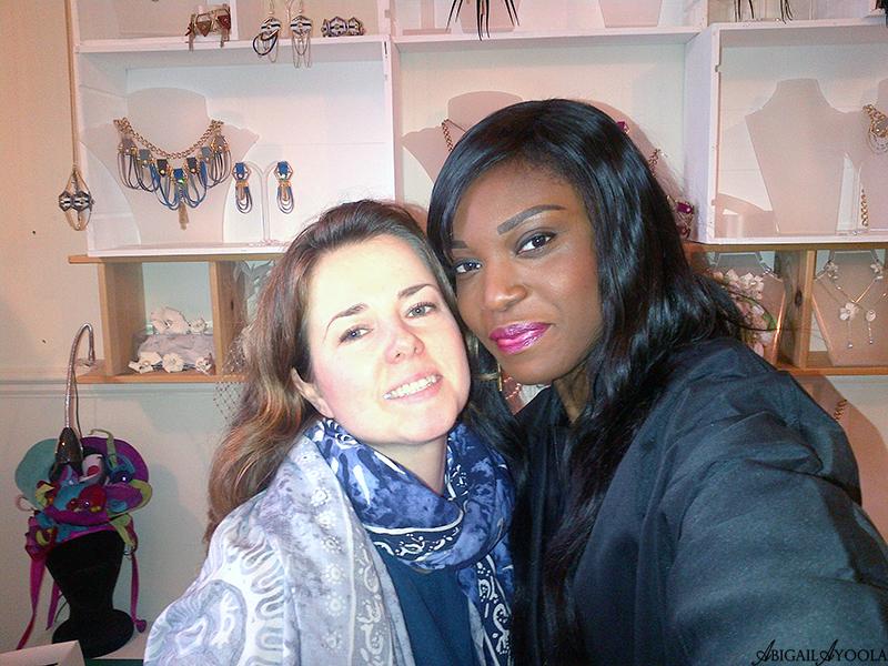 With jewellery designer Hayley Kruger