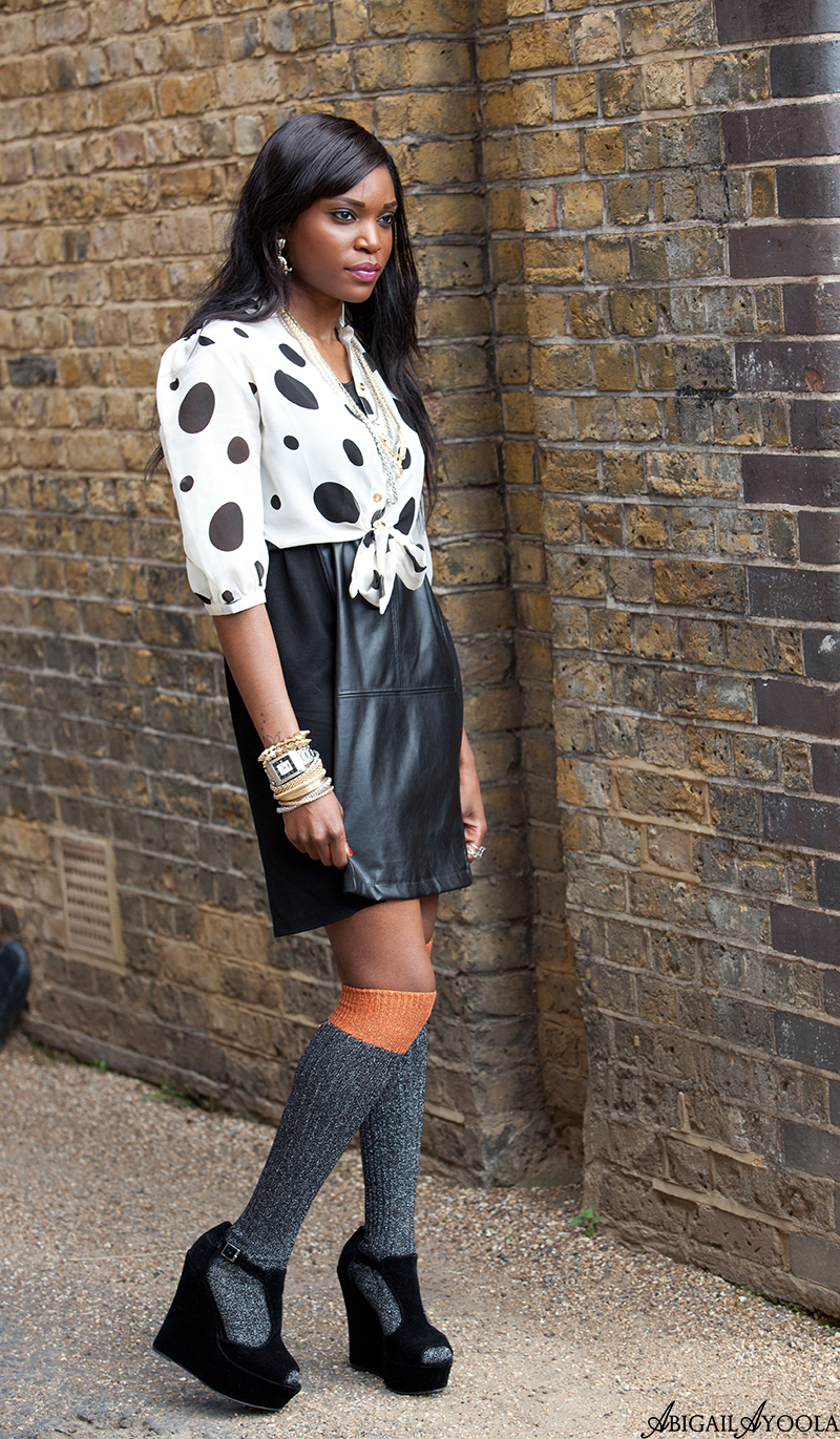 STYLING A LEATHER DRESS