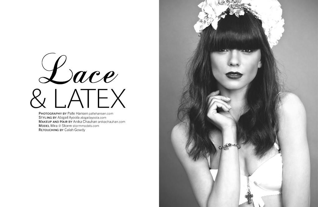 PAPERCUT MAGAZINE LACE & LATEX EDITORIAL