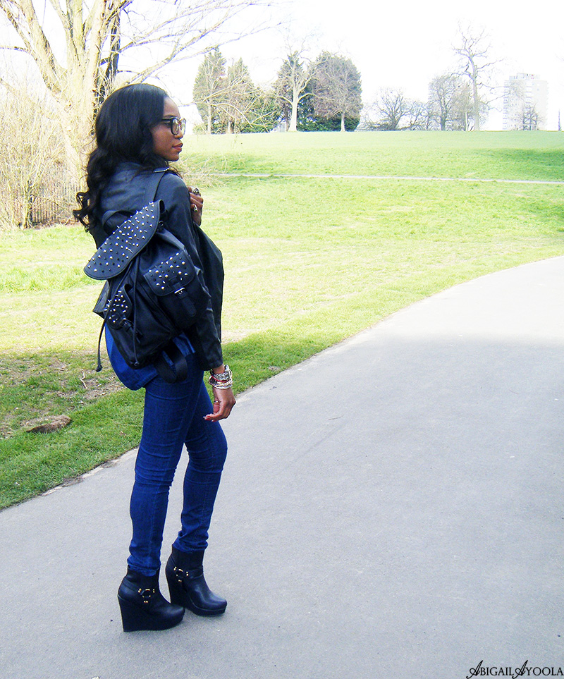 WEARING DOUBLE DENIM WITH LEATHER