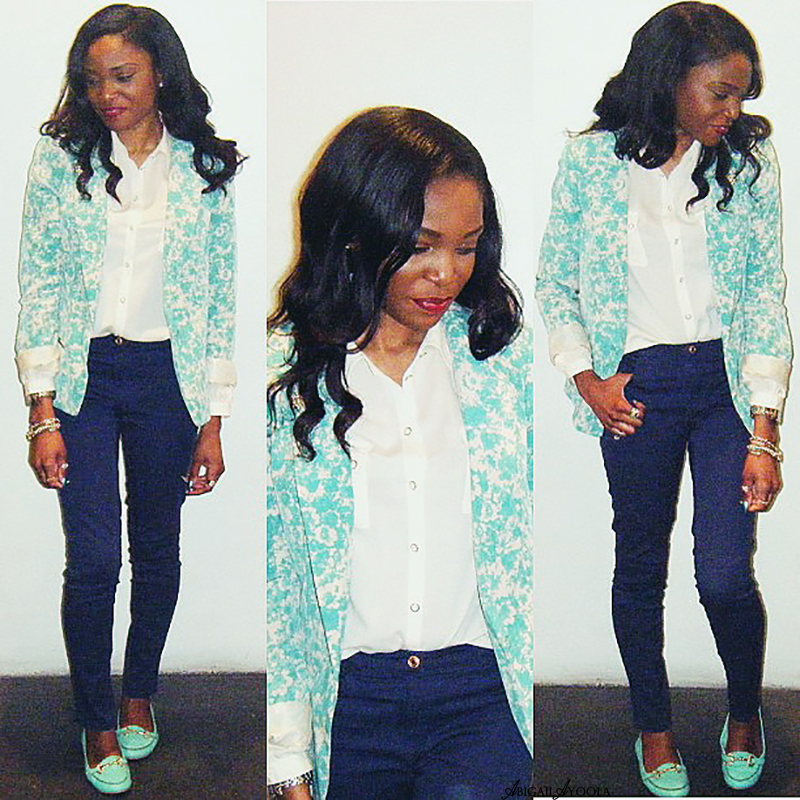 HOW TO STYLE A ROSE PRINT BLAZER