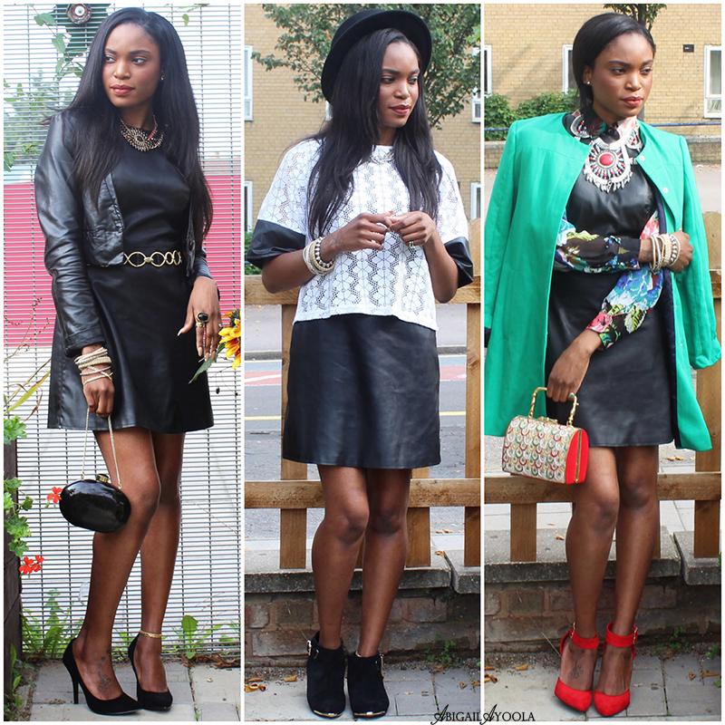 3 WAYS TO WEAR A LEATHER DRESS