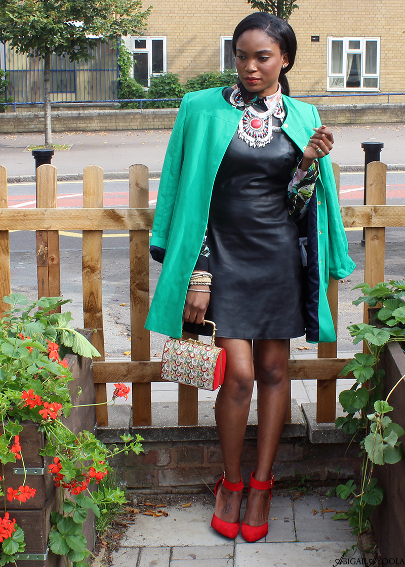 STYLING A LEATHER DRESS WITH FLORALS