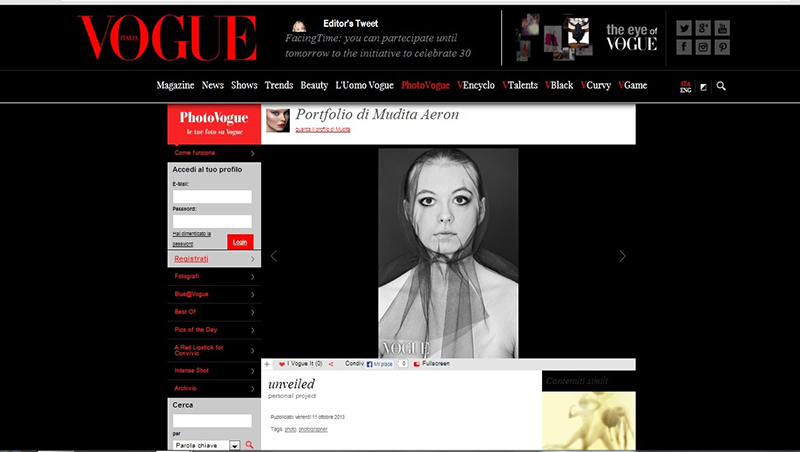UNVEILED EDITORIAL FEATURED ON VOGUE.IT