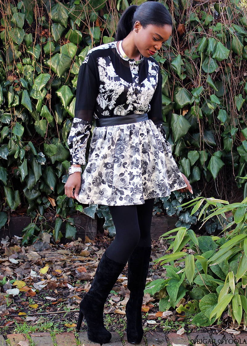 HOW TO WEAR MONOCHROME FLORALS