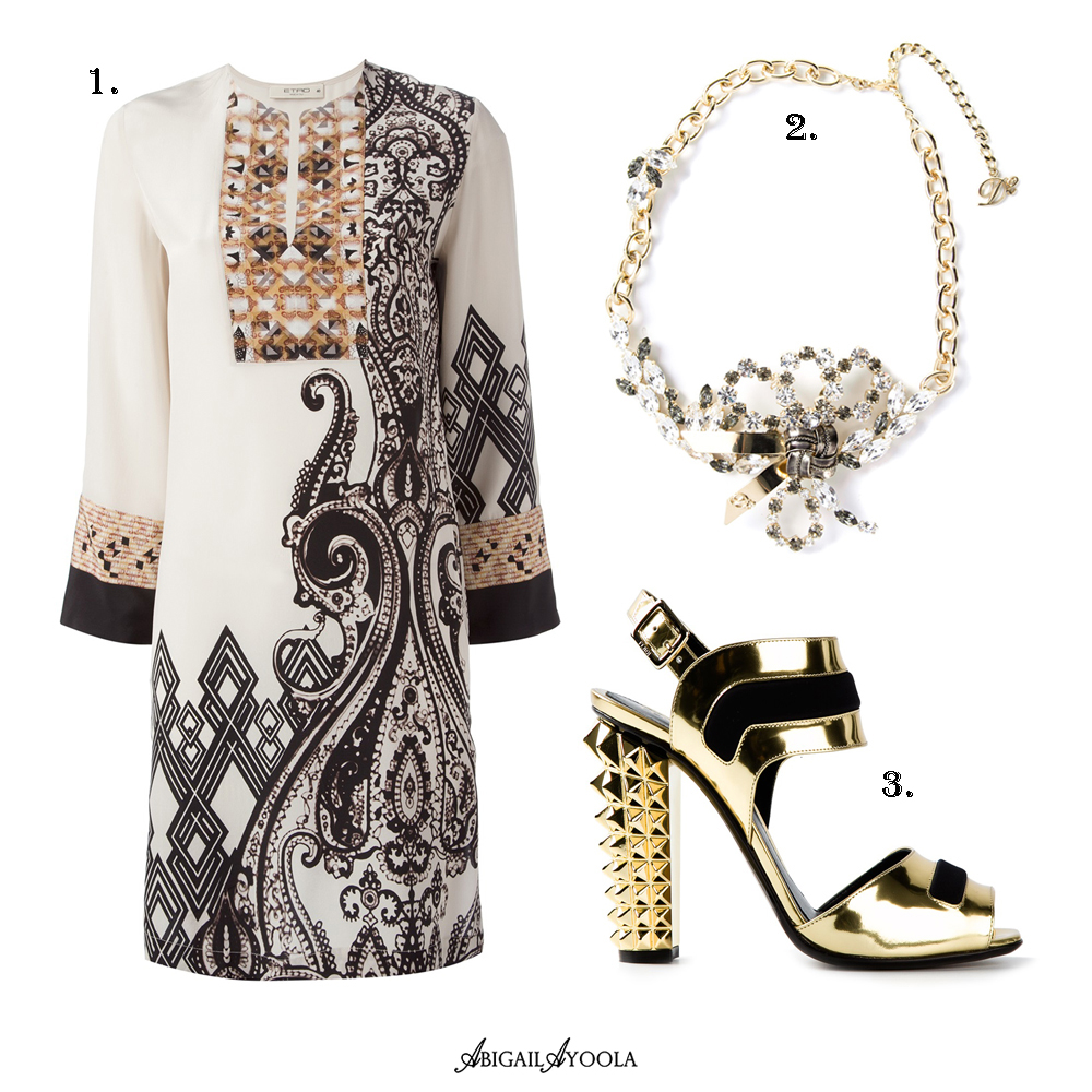 A WHITE & GOLD OUTFIT