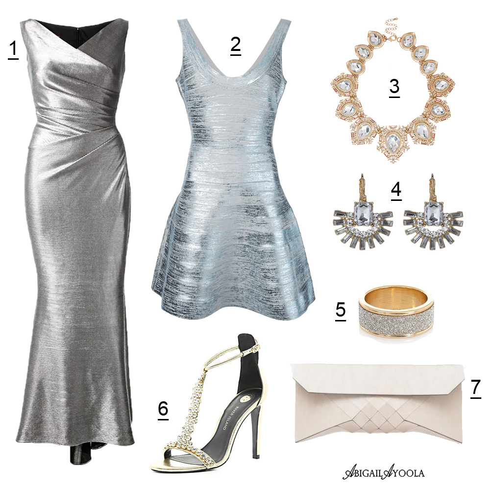 SILVER WEDDING GUEST OUTFIT IDEA