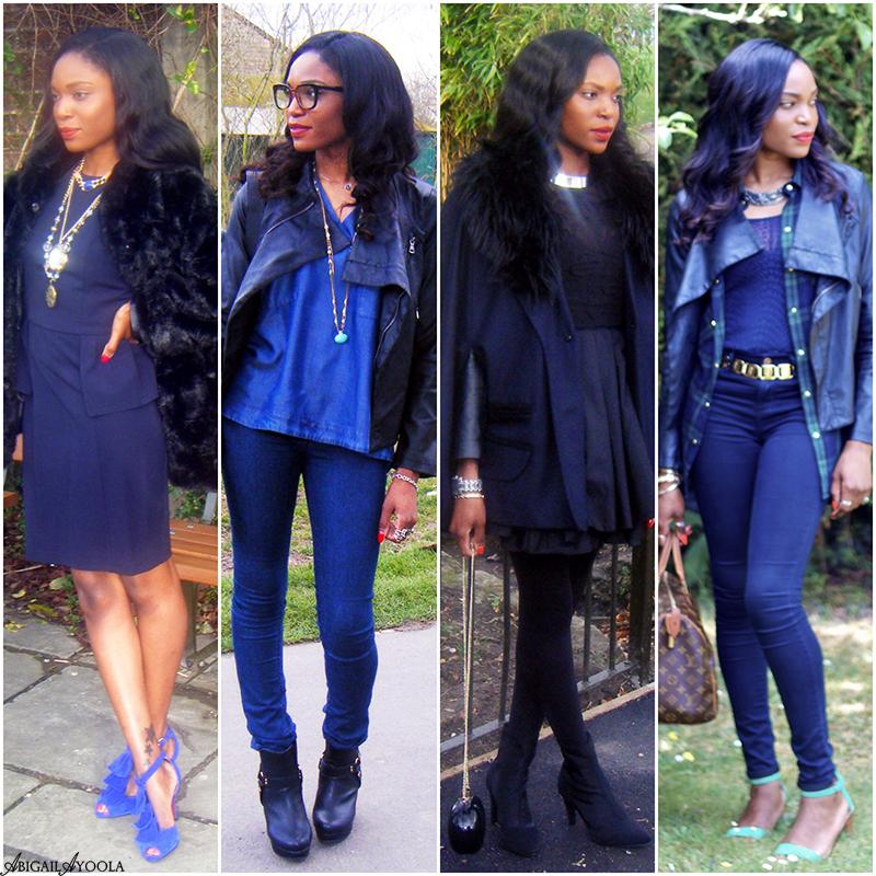 STYLISH WAYS TO WEAR BLUE & BLACK