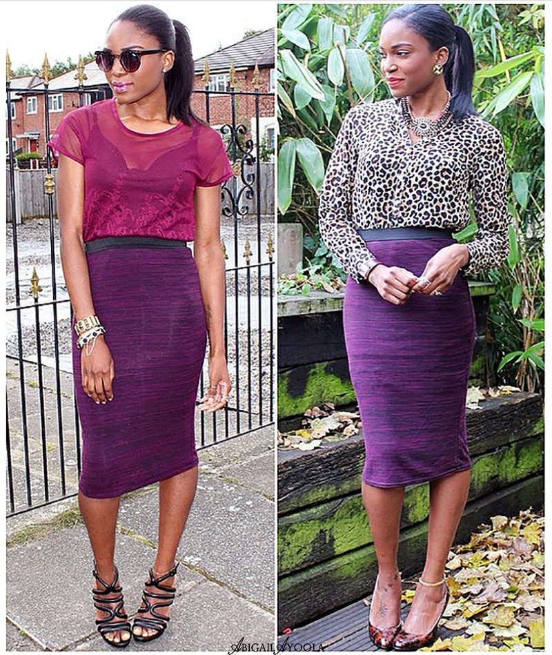 2 WAYS TO WEAR A PURPLE PENCIL SKIRT