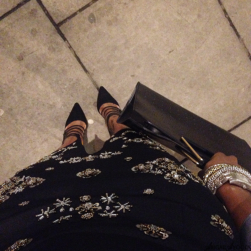 HOW TO WEAR AN EMBELLISHED PENCIL SKIRT