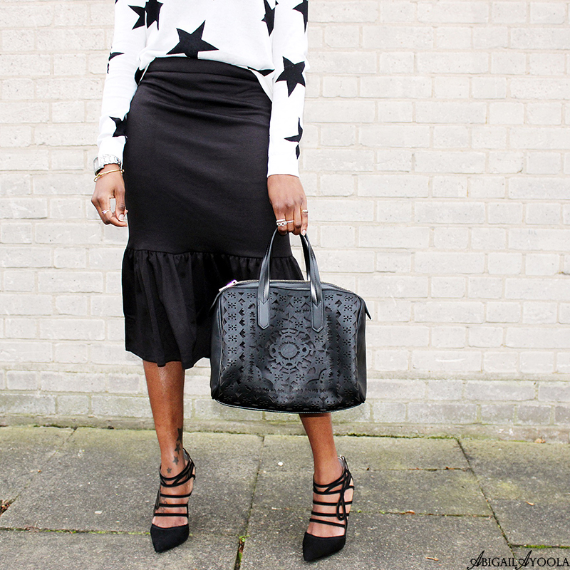 HOW TO WEAR A PEPLUM HEM SKIRT
