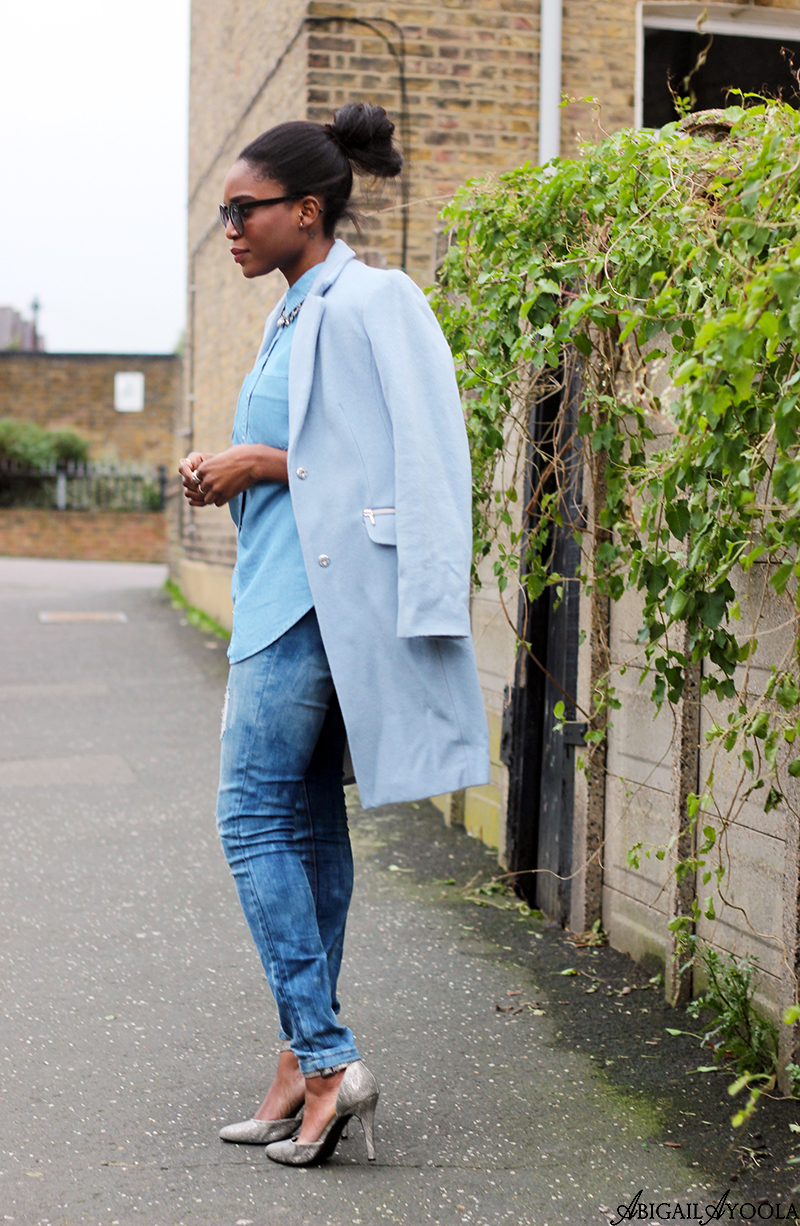 STYLING DOUBLE DENIM WITH A TAILORED COAT