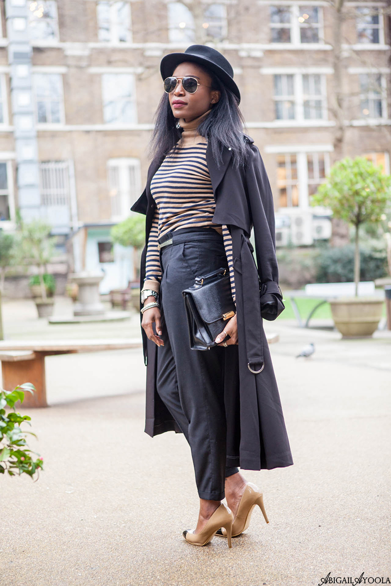 STYLING A STRIPE ROLL-NECK TOP