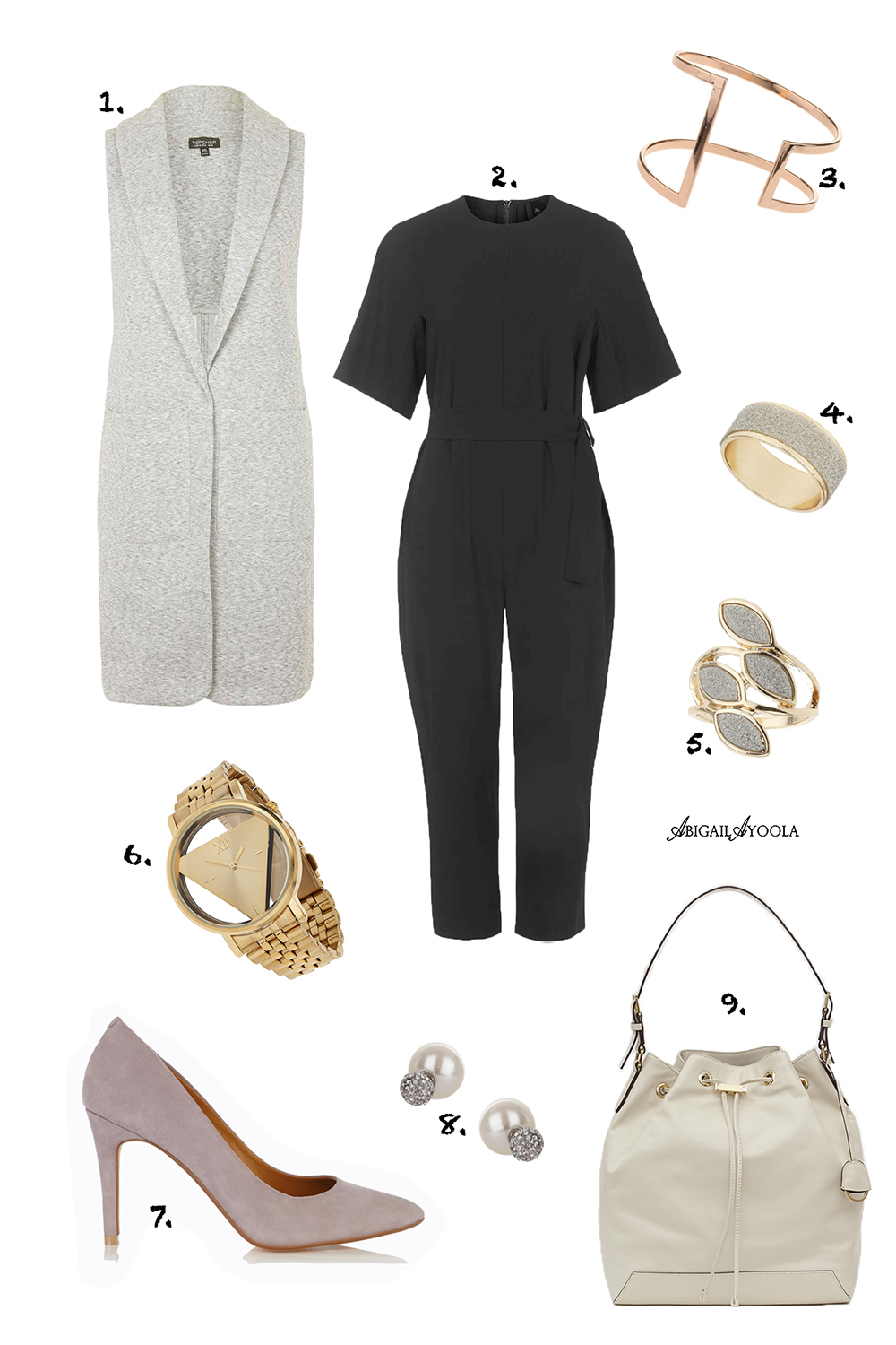 A JUMPSUIT WORK OUTFIT