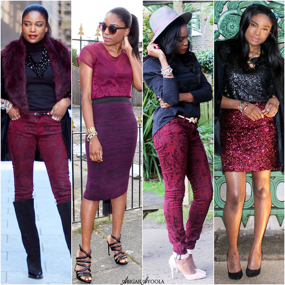 BURGUNDY AND BLACK OUTFIT IDEAS