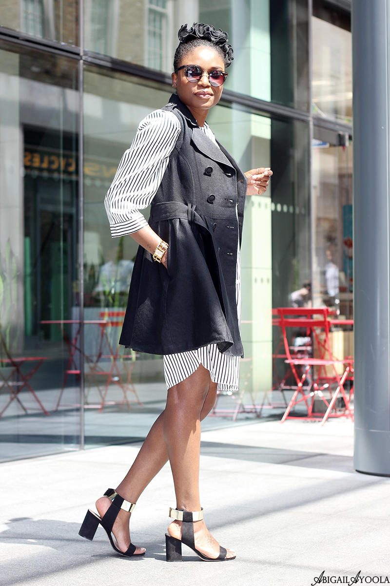 STYLING A STRIPED SHIRT DRESS