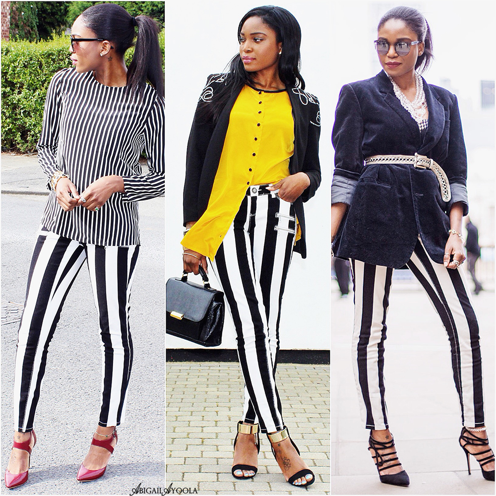 3 WAYS TO WEAR 1 STRIPED JEANS