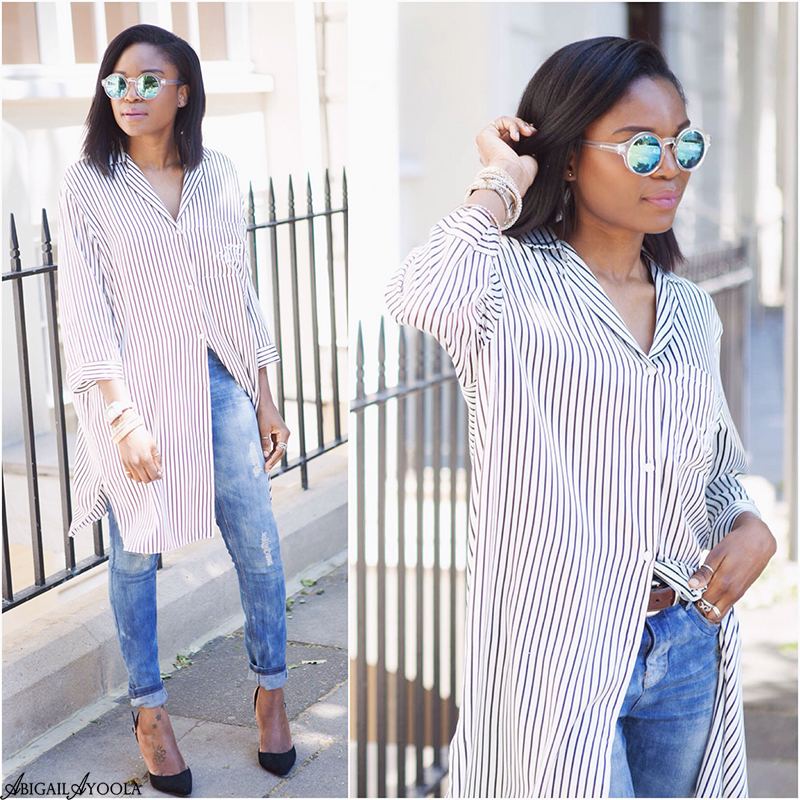 HOW TO STYLE A STRIPED SILK SHIRT
