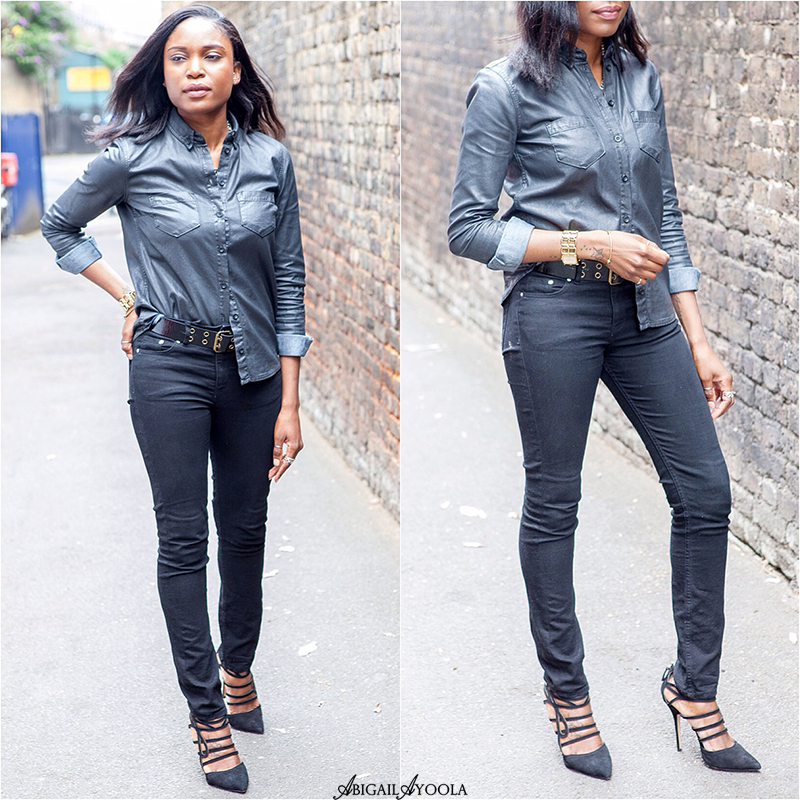 HOW TO WEAR A COATED DENIM SHIRT