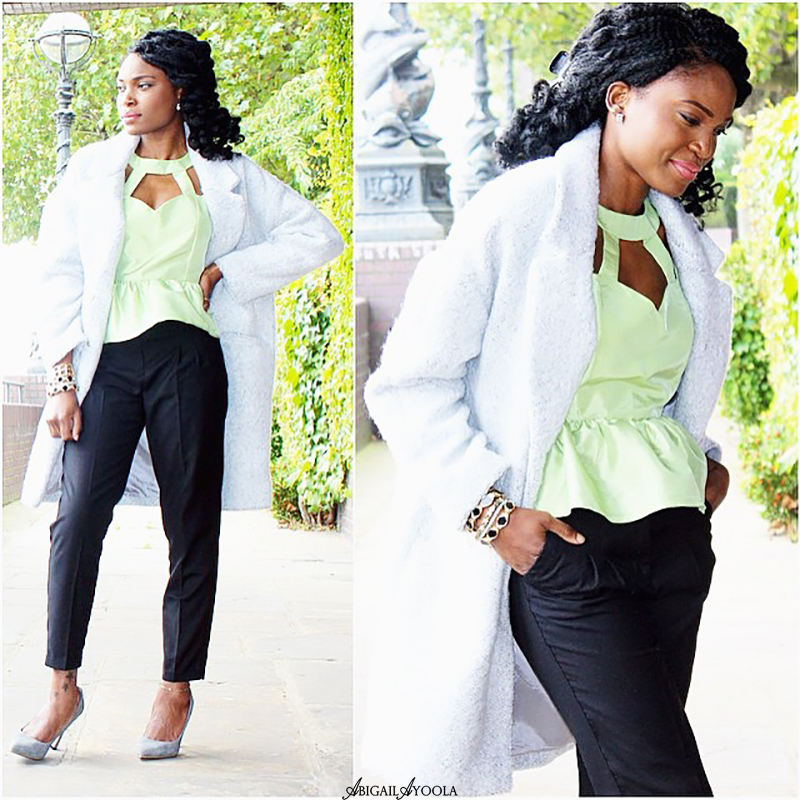 STYLING A GREEN PEPLUM TOP
