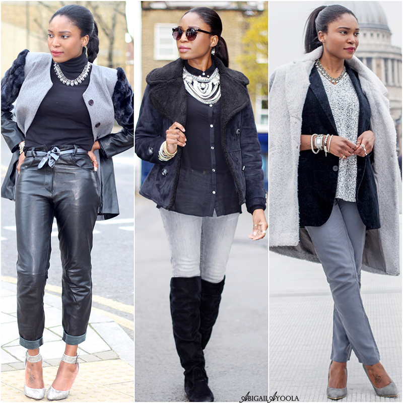 BLACK & GREY OUTFIT IDEAS