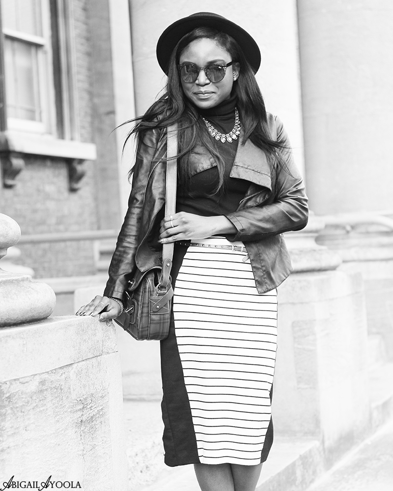HOW TO WEAR A STRIPED PENCIL SKIRT