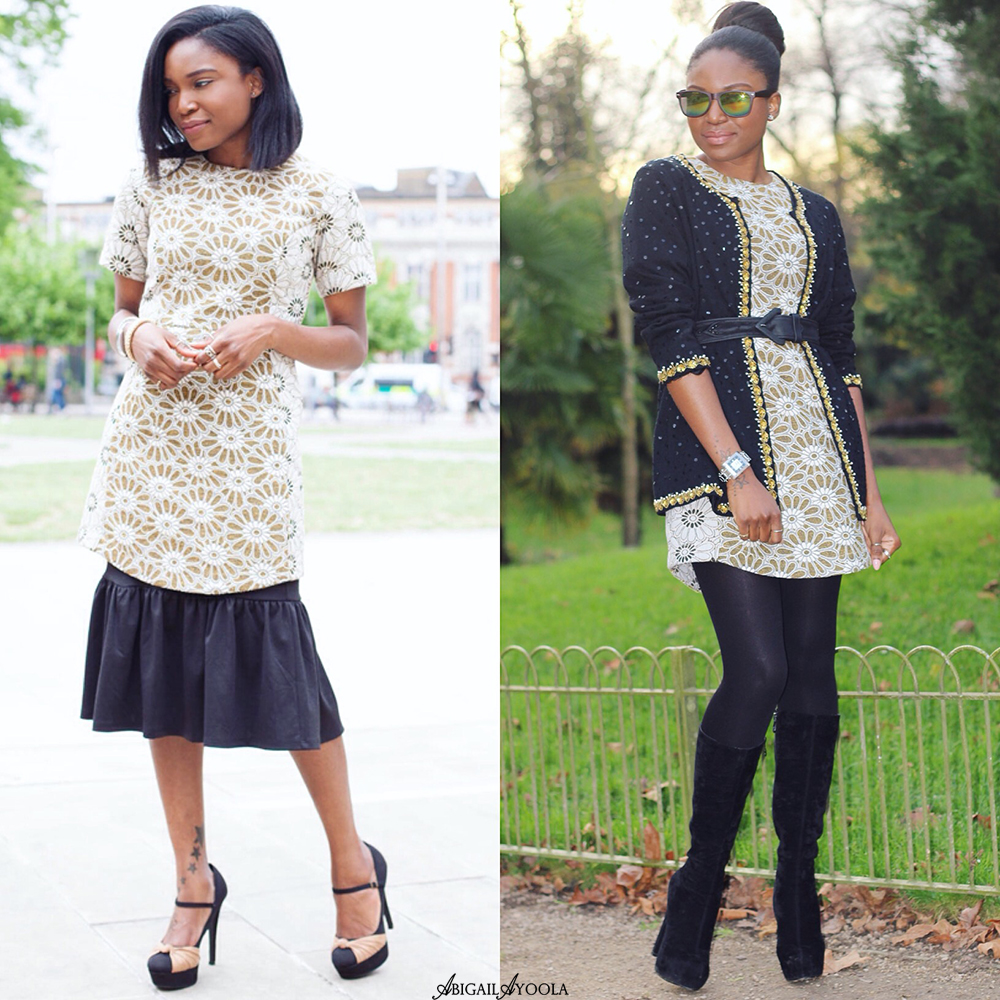 STYLE 1 JACQUARD SHIFT DRESS, 2 WAYS