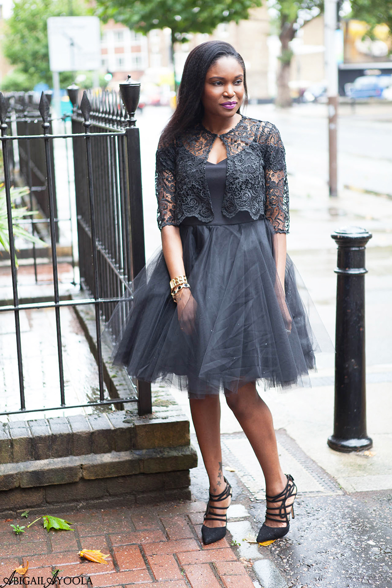 STYLING A BLACK TULLE DRESS