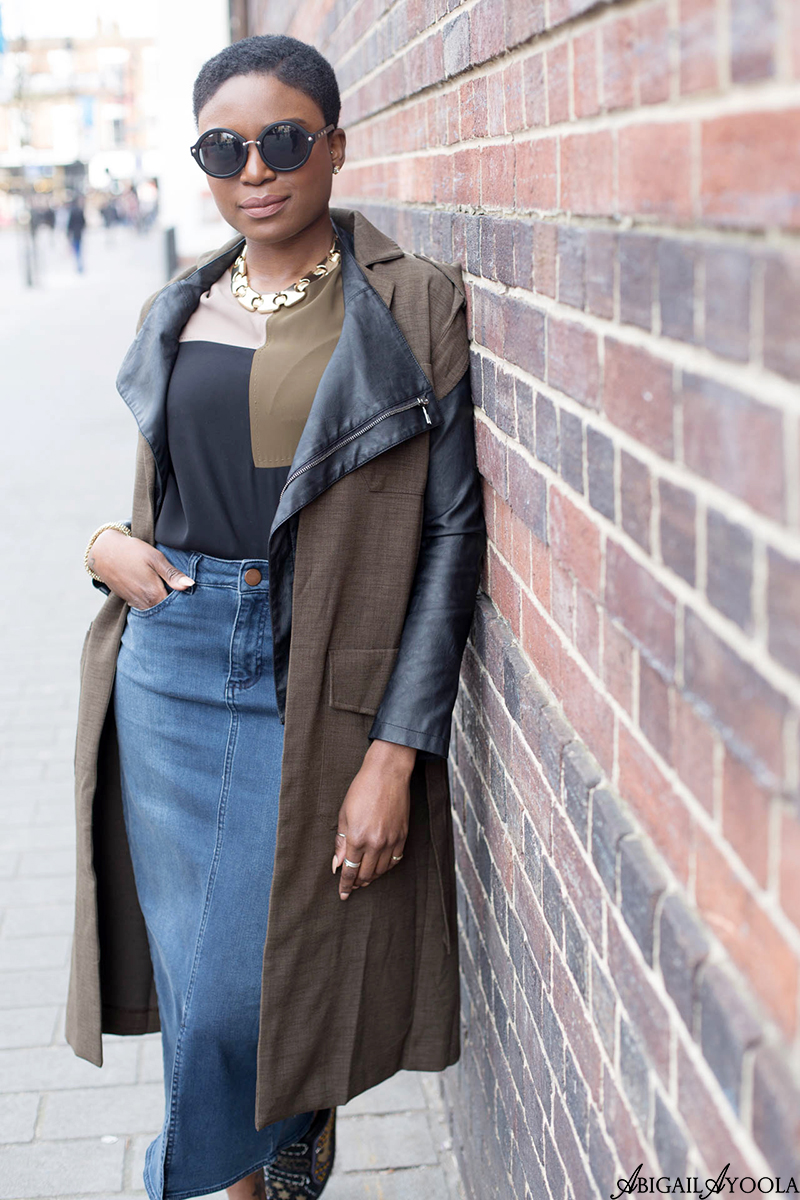 STYLING A KHAKI SLEEVELESS JACKET