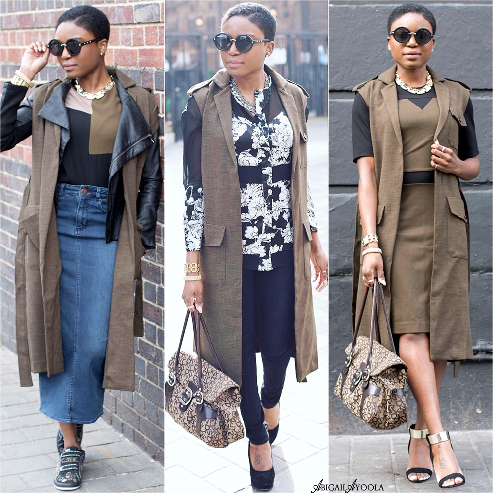 3 OUTFIT IDEAS WEARING 1 SLEEVELESS JACKET