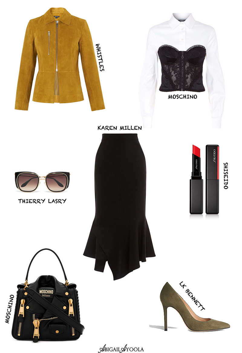 AN ELEGANT OUTFIT WITH SUEDE ACCENTS