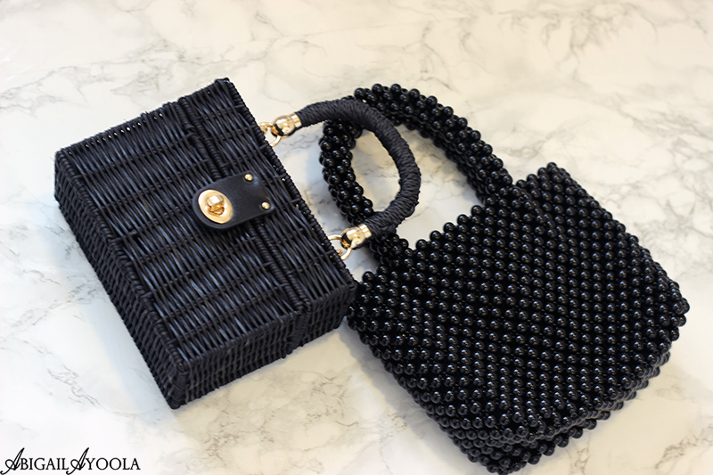 Black Mini Textured Bags are on Trend