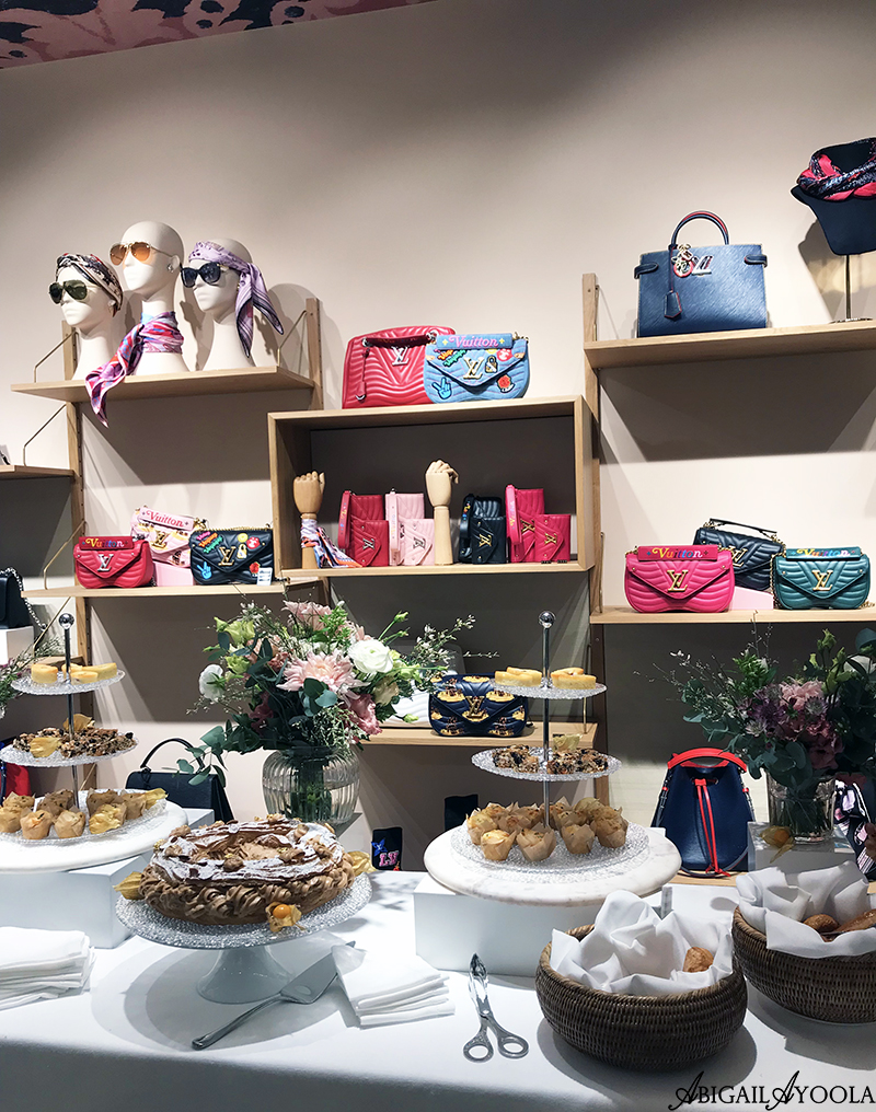 Louis Vuitton Bags Display at Exclusive Brunch