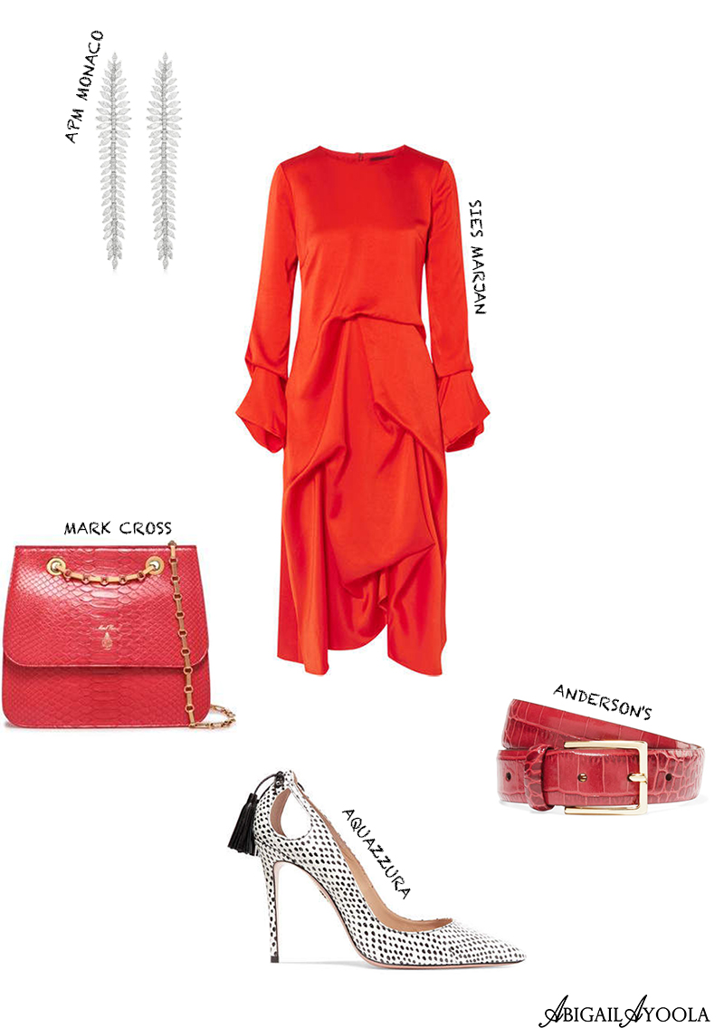 STYLE INSPIRATION OUTFIT EDIT ANIMAL PRINT & RED DRESS