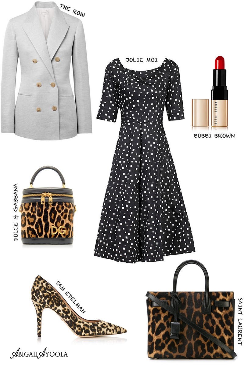 STYLE INSPIRATION -OUTFIT EDIT | SWING DRESS WITH LEOPARD PRINT HEELS