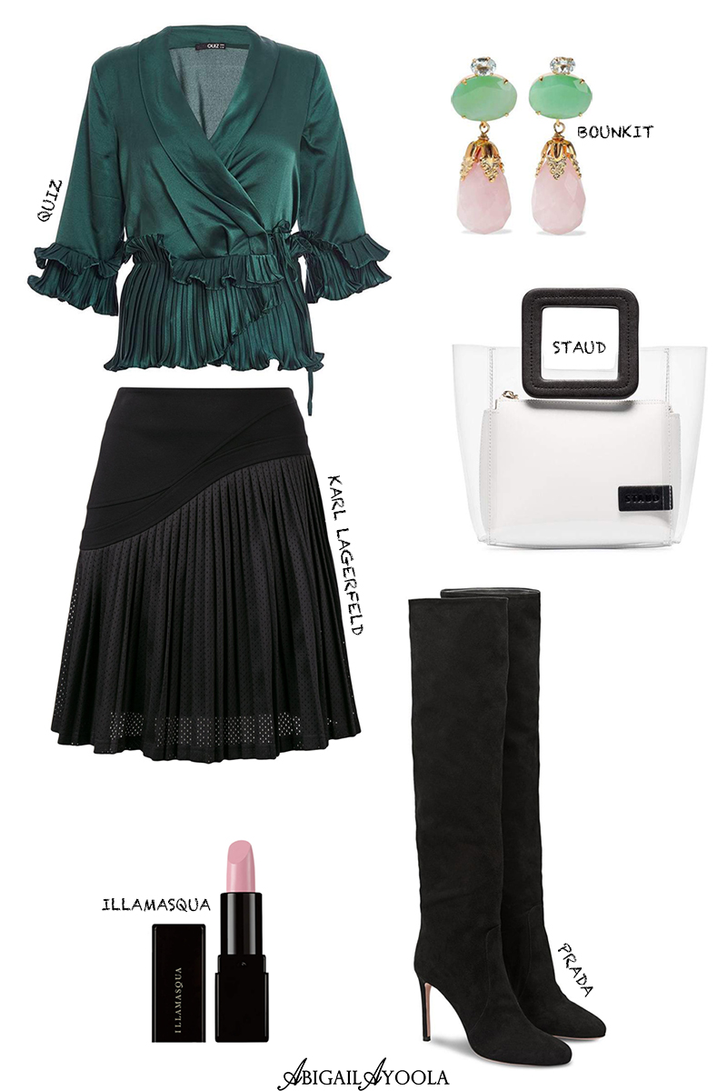 OUTFIT EDIT | PLEATS SHIRT & SKIRT OUTFIT INSPIRATION