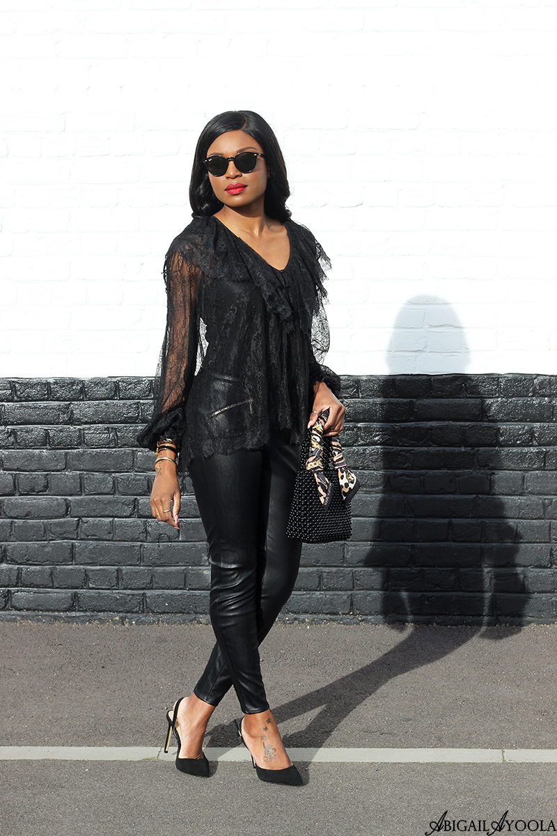 HOW TO WEAR LEATHER & LACE