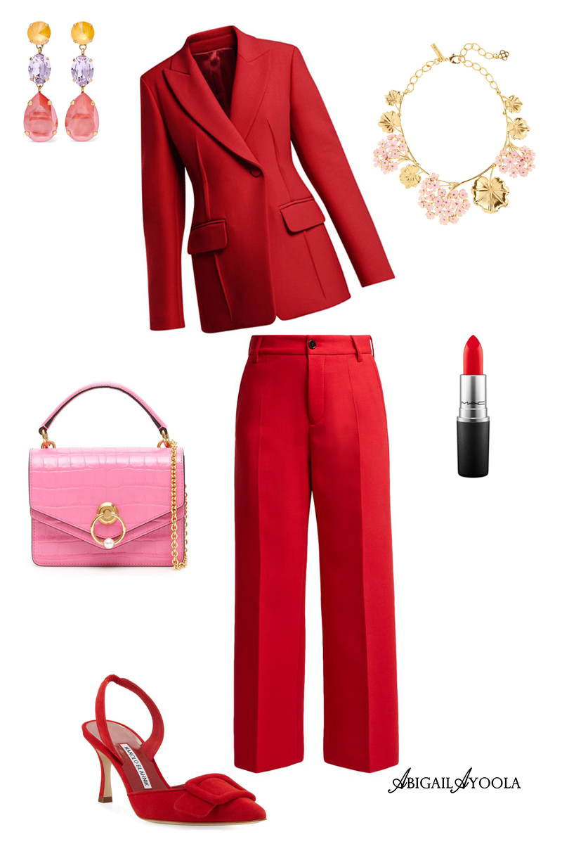 MONOCHROME RED OUTFIT IDEA