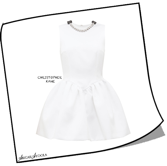 White Crystal-embellished Puffed Satin Mini Dress