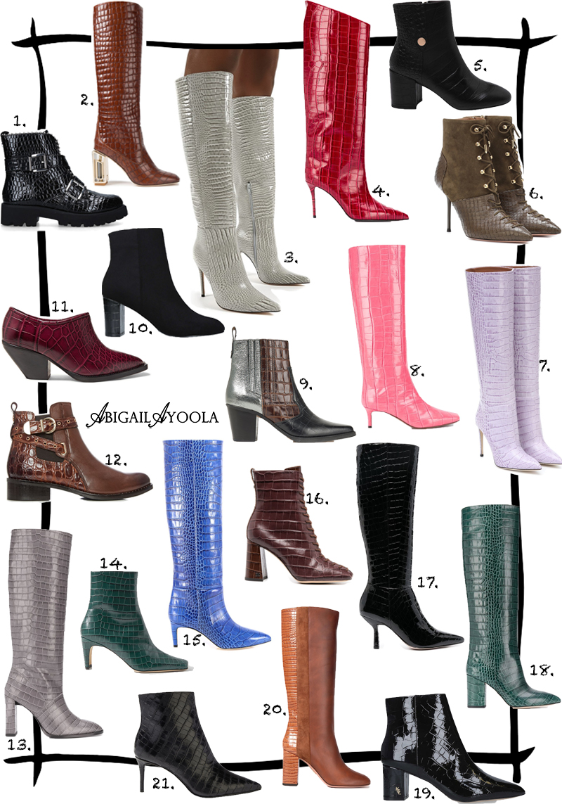 21 CROC PRINT BOOTS TO MAKE A STYLE STATEMENT